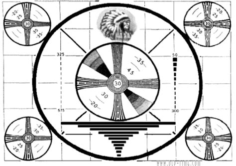 test pattern clock nz picture on the radio