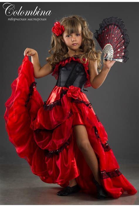 Robe Espagnole Flamenco Fille - carnaval costume espagnole fille espagnole par