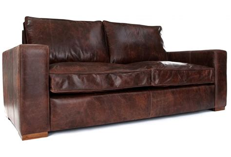 vintage leather sofa bed battersea vintage leather 2 seater sofa bed from old