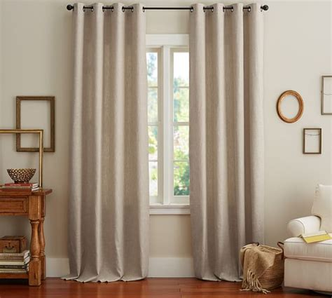 pottery barn linen curtains emery linen cotton grommet drape pottery barn