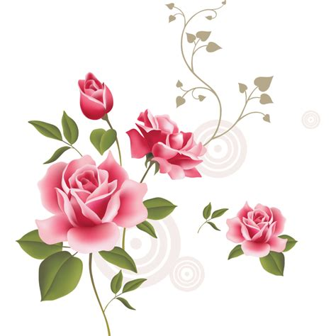 rose pattern png 手绘玫瑰设计图 花边花纹 底纹边框 设计图库 昵图网nipic com