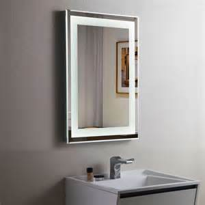 lighted mirror bathroom decoraport vertical led illuminated lighted bathroom wall