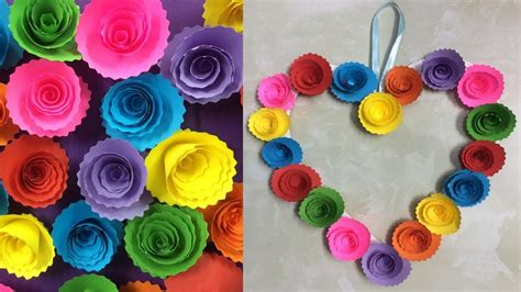 diy paper rose wall hanging easy wall decoration ideas