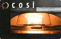 buy cosi gift cards at a discount giftcardplace - Cosi Gift Card Balance