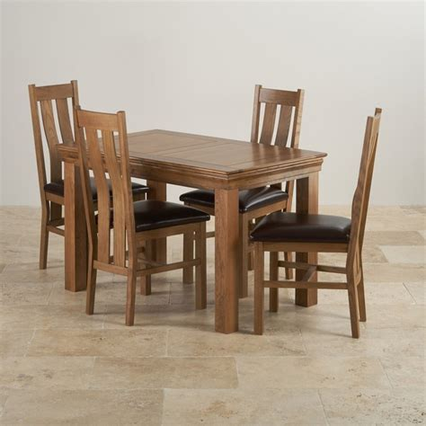 rustic dining table and chairs uk farmhouse oak dining set 4ft table with 4 chairs