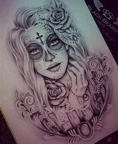 sugar face tattoo designs sugar skull tattoos beautiful
