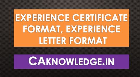 work experience letter format in doc experience certificate format experience letter format in