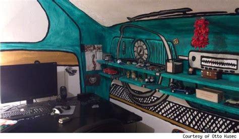 volkswagen press room otto kusec of croatia paints room to look like vw beetle interior aol finance