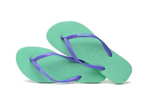 havanas slippers havaianas flip flops havaianas slim logo light green