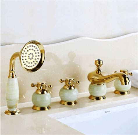 5 piece bathtub faucet la rochelle 5 piece deck mounted bathtub faucet