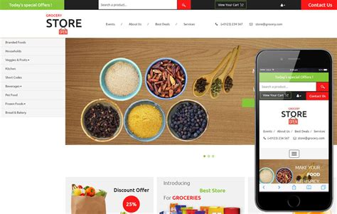layout online store grocery store a ecommerce category flat bootstrap