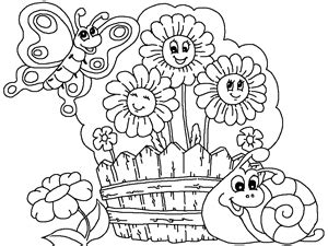 summer garden coloring page garden flowers coloring pages flower page for kids vitlt com