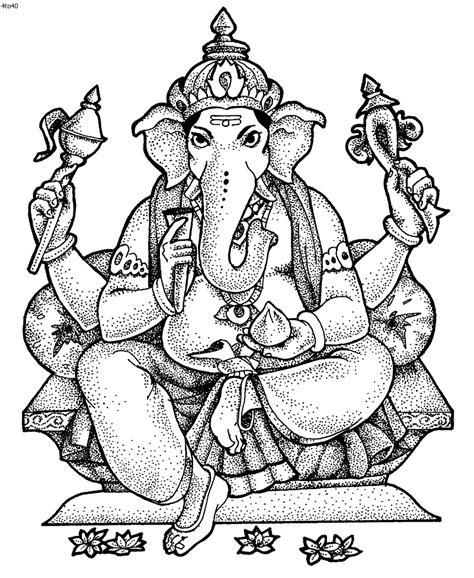 Bal Ganesh Coloring Pages Ganesha Coloring Pages