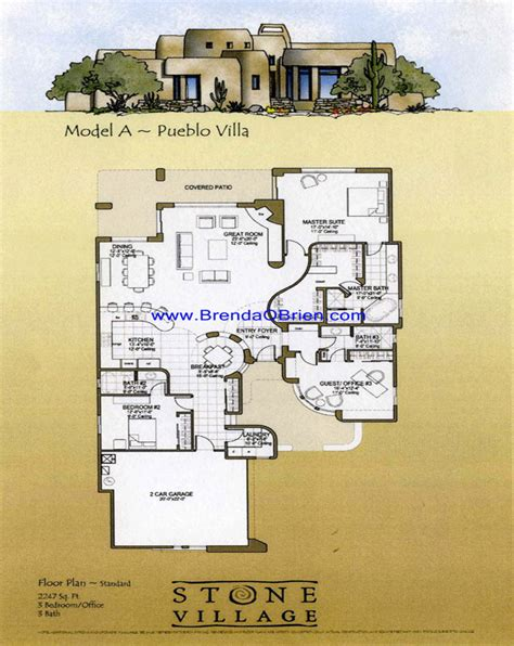 pueblo house plans stone village tucson arizona pueblo floor plan a