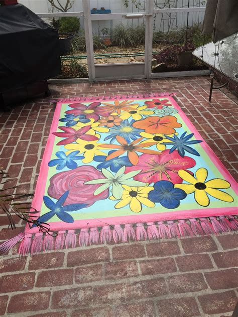 Outdoor Floor Painting Ideas Painted Rug On Concrete Patio Decor Ideas Pinterest Paint Rug Concrete Patios And Concrete