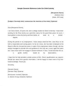 Custody Letter Format by Sle Reference Letter 10 Free Documents In Pdf Doc