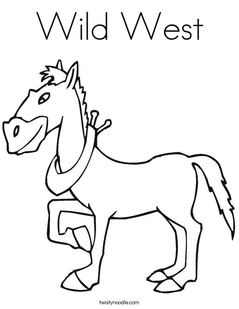 Wild West Coloring Page Twisty Noodle West Coloring Pages