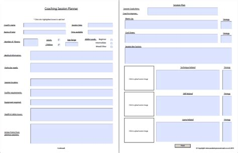 Interactive Session Plans Academy Soccer Coach Asc Coaching Plan Template