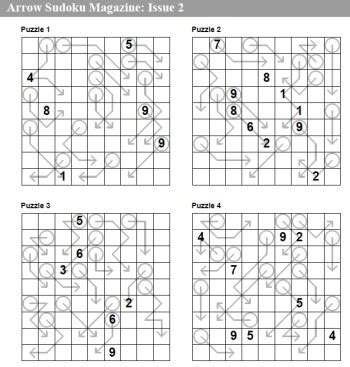 printable arrow sudoku arrow sudoku magazine