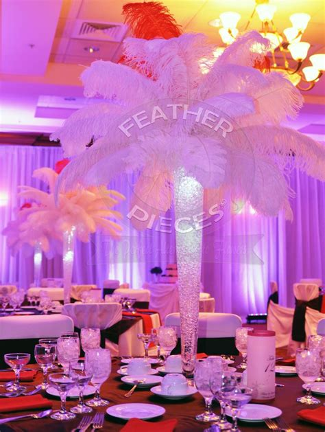 http featherpieces wedding event centerpieces