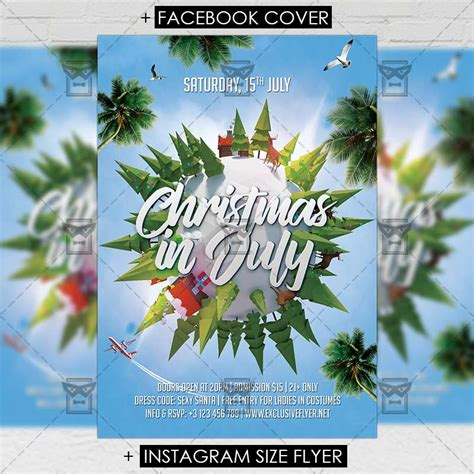 Christmas In July Premium A5 Flyer Template Exclsiveflyer Free And Premium Psd Templates In July Flyer Template