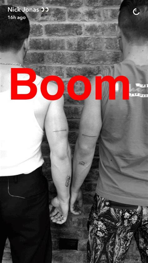 nick jonas and joe jonas got matching tattoos before the