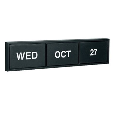 Low Cost Perpetual Calendar Single Faced Black Frame Perpetual Calendar For Wall