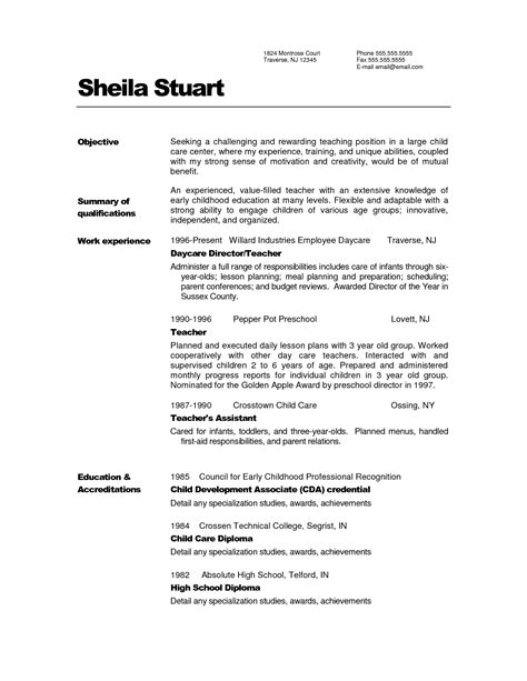 Resume Sle In Jollibee Cv Creator In Word Resume Title Exles For Entry Level What To Write In Your Resume Objective