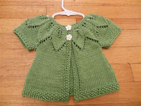 knitting patterns for baby sweaters state knitting baby leaf sweater