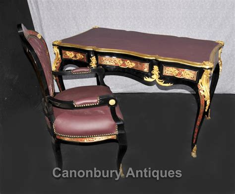 desk chair set boulle desk and chair set writing table bureau