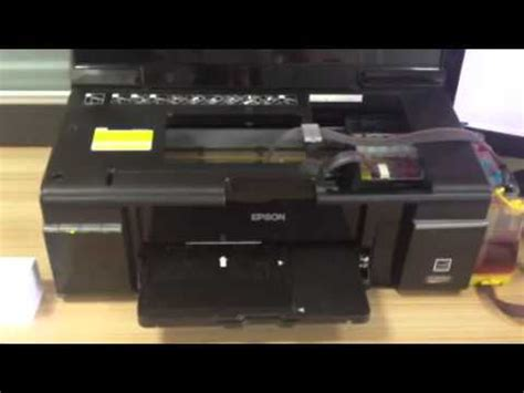 how to reset epson l800 printer with software epson l800 blank inkjet pvc id card youtube