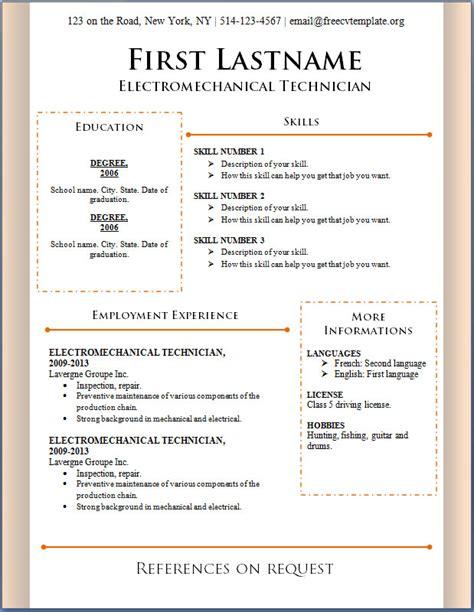 Resume Samples In Word Format – microsoft word 2017 resume templates downloads