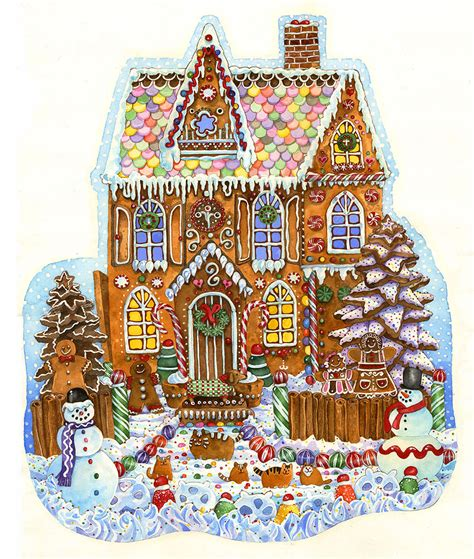 printable gingerbread house pieces gingerbread house jigsaw puzzle puzzlewarehouse com