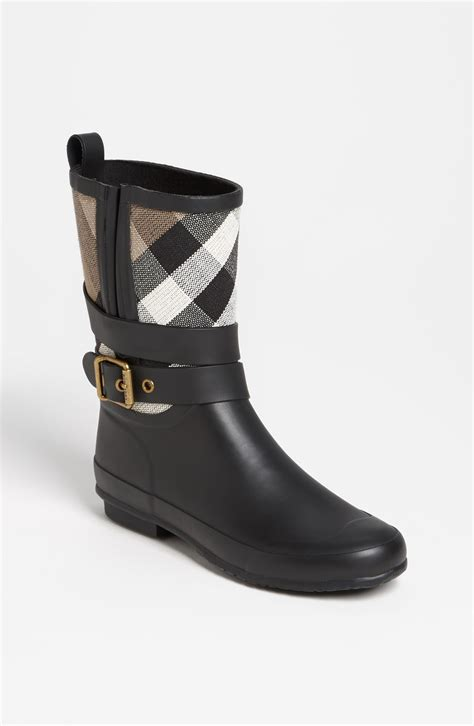 burberry boots for burberry holloway boot in black lyst
