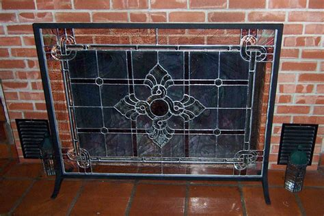 fireplace glass screen on custom fireplace quality