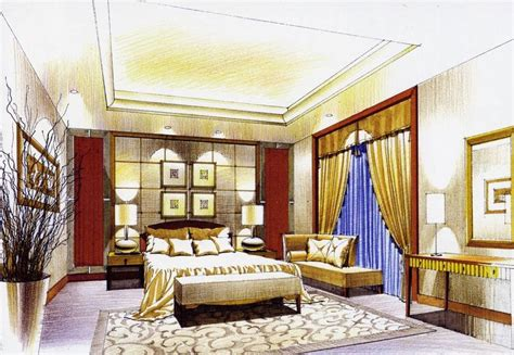 bedroom interior design sketch sketches