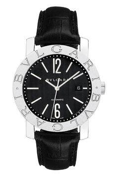 Bvlgari X Turbillon Automatic Leather Black Ring Silver bvlgari bvlgari white chronograph automatic mens