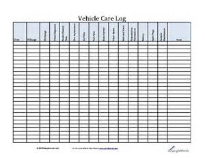 vehicle service schedule template vehicle care log printable pdf form for car maintenance