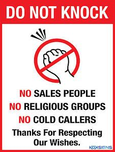 Do You Support Knockout by Do Not Knock No Sales No Religious Groups Vinyl