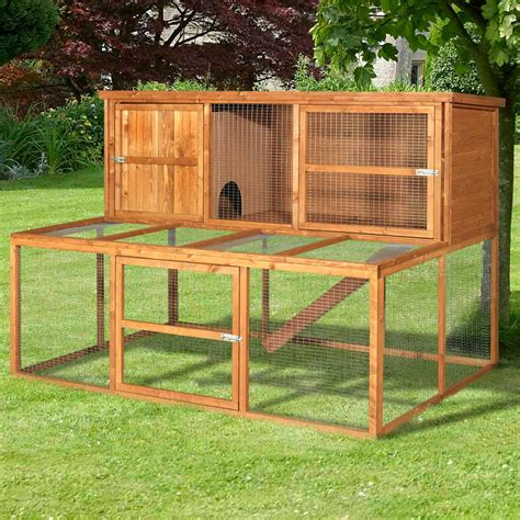 Rabbit Hutch And Run home and roost large rabbit hutch and run luxury rabbit hutches kendal 180 6ft pet home