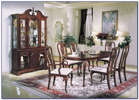 thomasville cherry esszimmer set ethan allen cherry dining room set m 246 bel