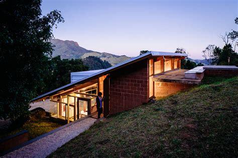 Plan Concrete by Casa En La Pendiente Planos De Arquitectura