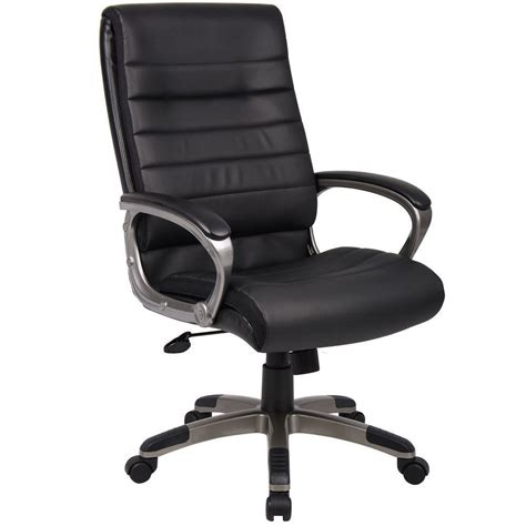 High Office Chair With Wheels Design Ideas Executive Office Chair Black Pu Leather W High Back Arms 5 Castors Wheels Ebay