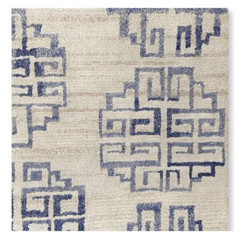 Zeba Rugs zeba knotted rug blue williams sonoma