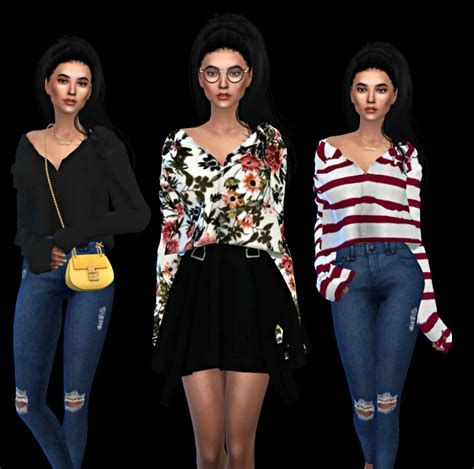 Mona Cc mona top at leo sims 187 sims 4 updates