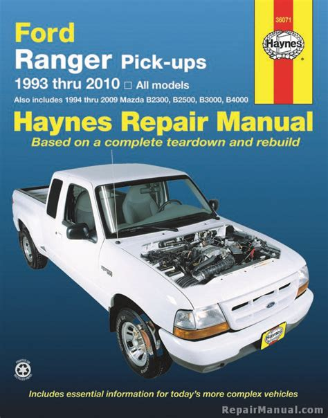 haynes ford ranger pickups 1993 2010 repair manual