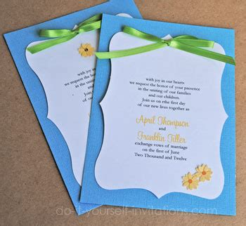 wedding invitations diy ideas and templates