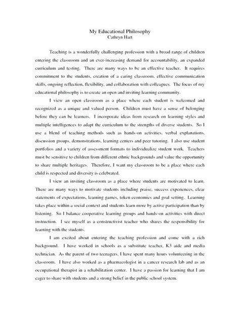 personal nursing philosophy paper examples templates instathreds co