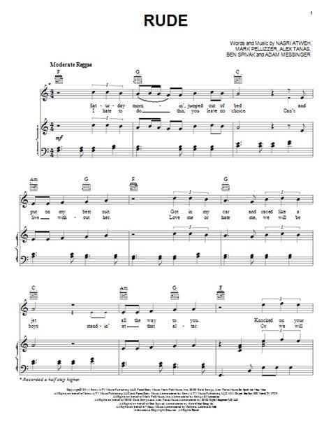 tutorial guitar magic rude rude sheet music direct