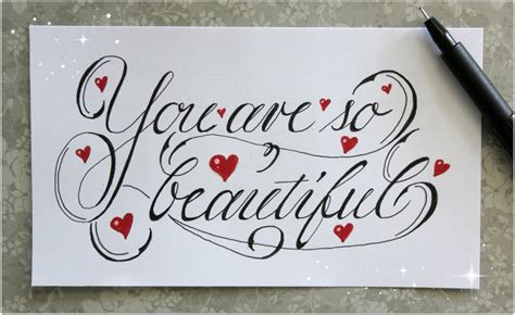 Letter You Are Beautiful Cursive Fancy Letters How To Write Quot You Are So Beautiful Quot